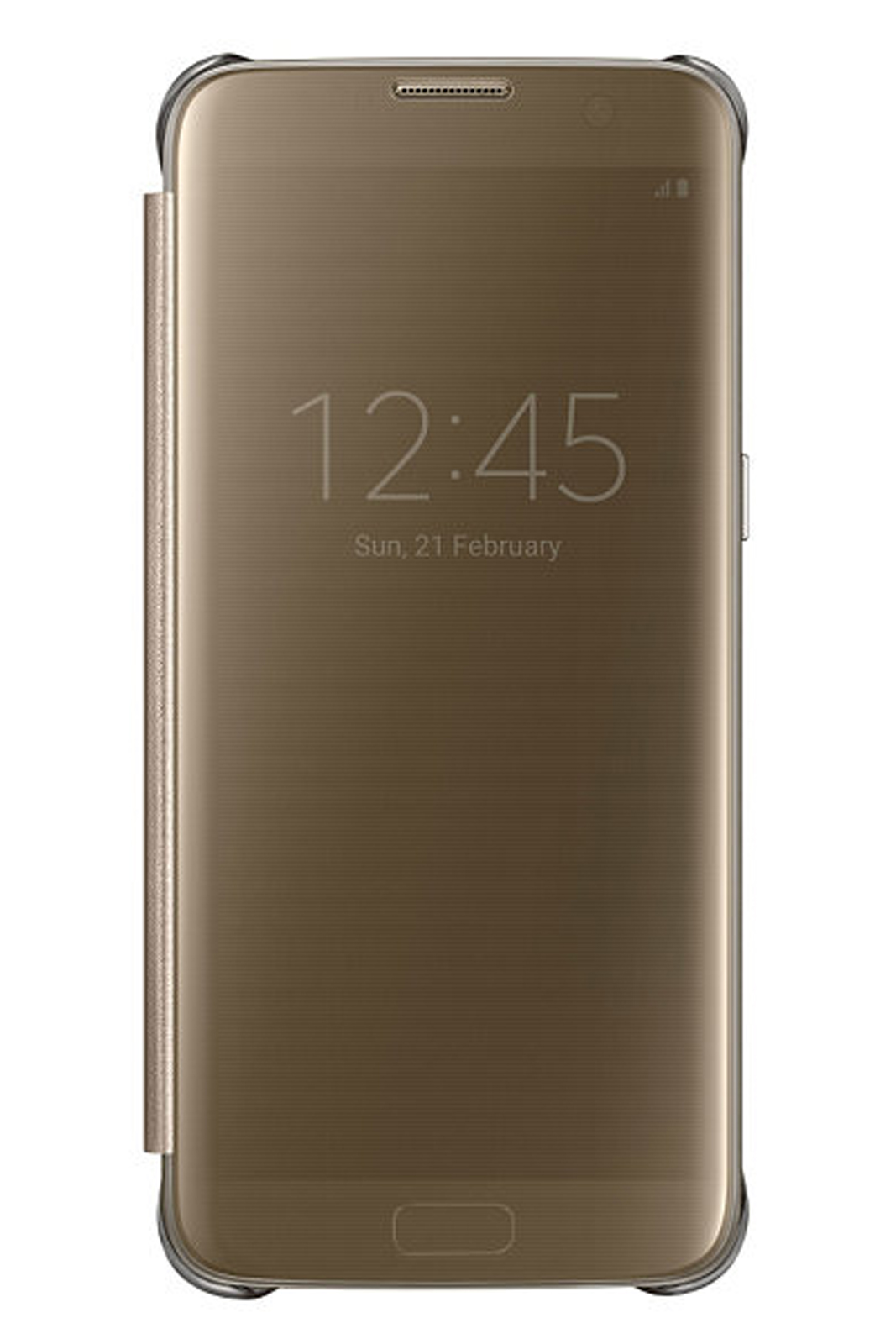 outlet store 7489c d2e66 Details about Official Samsung Galaxy S7 Edge Gold Clear View Cover / Case  - EF-ZG935CFEGWW