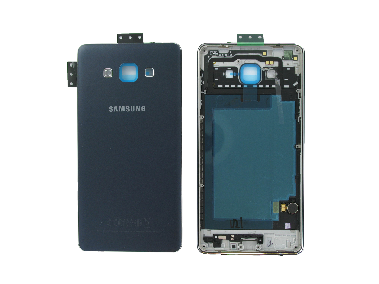 635ef78b2e8 Genuine Samsung SM-A700 Galaxy A7 Black Rear Chassis / Middle Cover ...