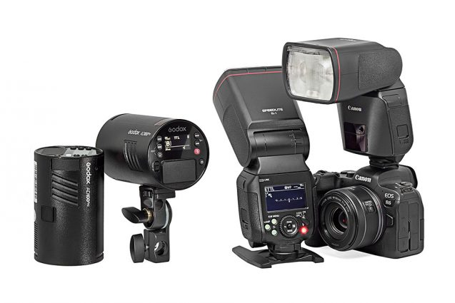Godox AD100 Pro ja Canon EL-1.