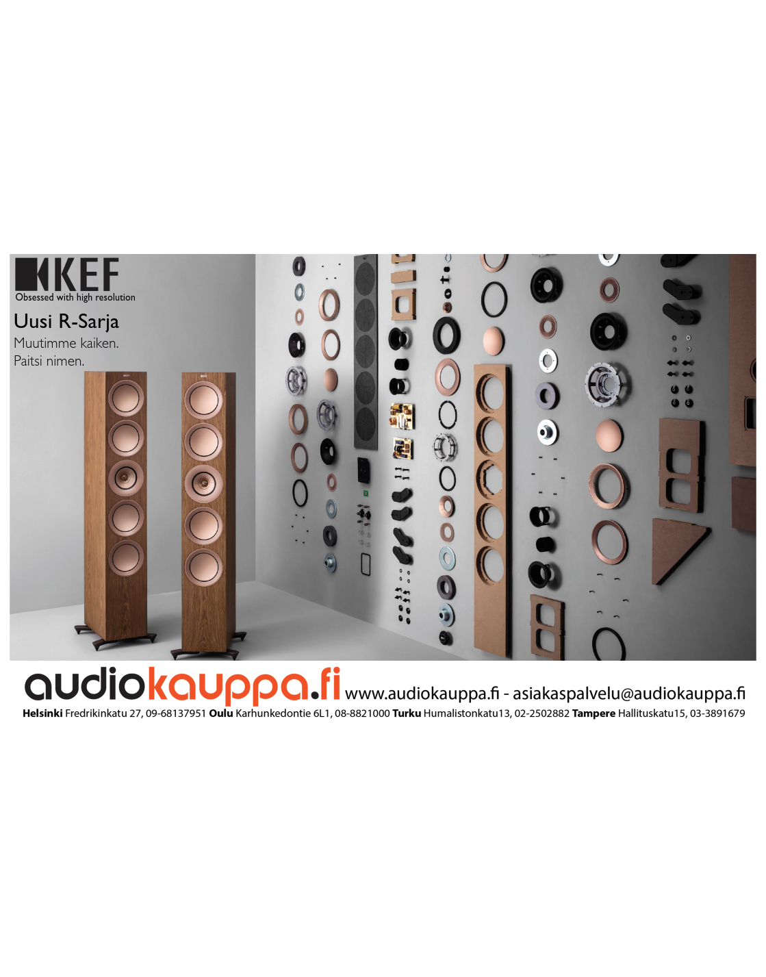 Ilmoitus: Audiokauppa / KEF