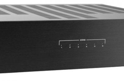 Monihuonejärjestelmän voi rakentaa myös langallisesti – Dayton Audion vahvistimessa on 12 kanavaa