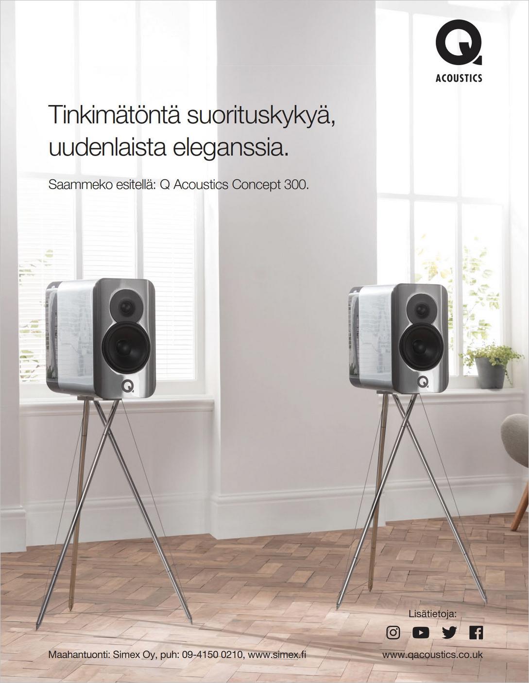 ILMOITUS: Q-Acoustics Simex