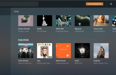 PLEX tukee nyt Tidal-toistoa – paikalliset tiedostot ja suoratoistettava musiikki samalla haulla