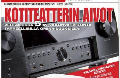 Uusi AVPlus 4/2019 on ilmestynyt – jättinumerossa mukana muun muassa av-viritinvahvistimien ja täyslangattomien kuulokkeiden vertailut