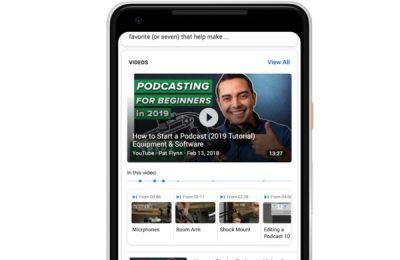 Google osaa hakea nyt sisältöä videoista