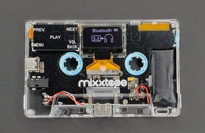 MIXXTAPE on C-kasetin muotoinen digitaalinen musiikkisoitin – jota voi käyttää myös kasettina!