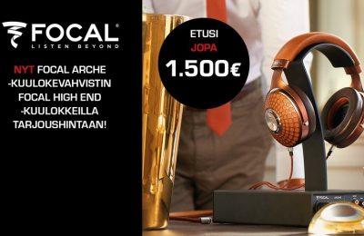 Rajoitettu erä tarjouspaketteja Focal Arche kuulokevahvistin High-End kuulokkeilla
