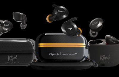 Klipsch julkisti McLaren Racingin kanssa suunnitellut täyslangattomat kuulokkeet kovaan menoon