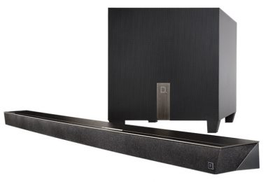 Definitive Technology Studio Slim 3.1 Soundbar sisäänrakennetulla Chromecastilla