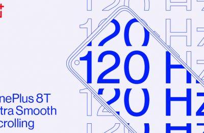 Tulevassa OnePlus 8T -lippulaivamallin näytössä tullaan näkemään 120 hertsin virkistystaajuus