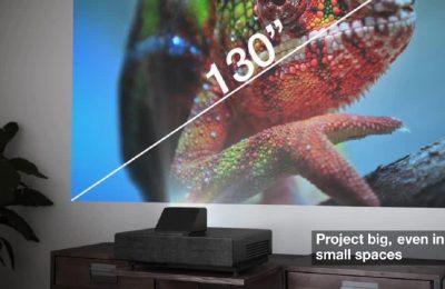 Erittäin lyhyen etäisyyden 4K PRO-UHD -laserkotiteatteriprojektori