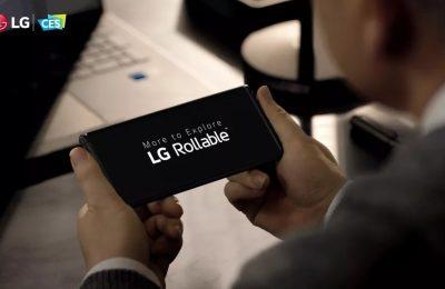 LG:ltä kenties tulossa rullattava puhelin