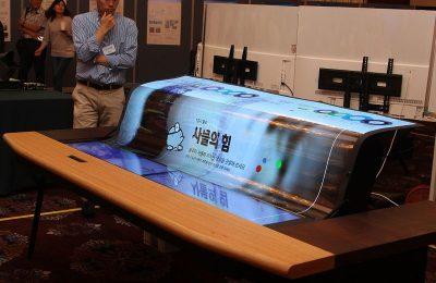 LG esitteli rullattavan ja läpinäkyvän näytön