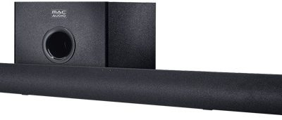 Edullinen soundbar kompaktilla subbarilla