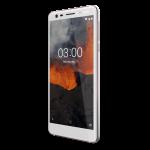 Nokia 3.1:n valkoinen värivaihtoehto.