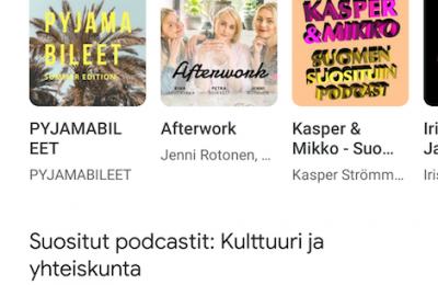 Google esitteli uuden ja sutjakan Podcasts-sovelluksensa
