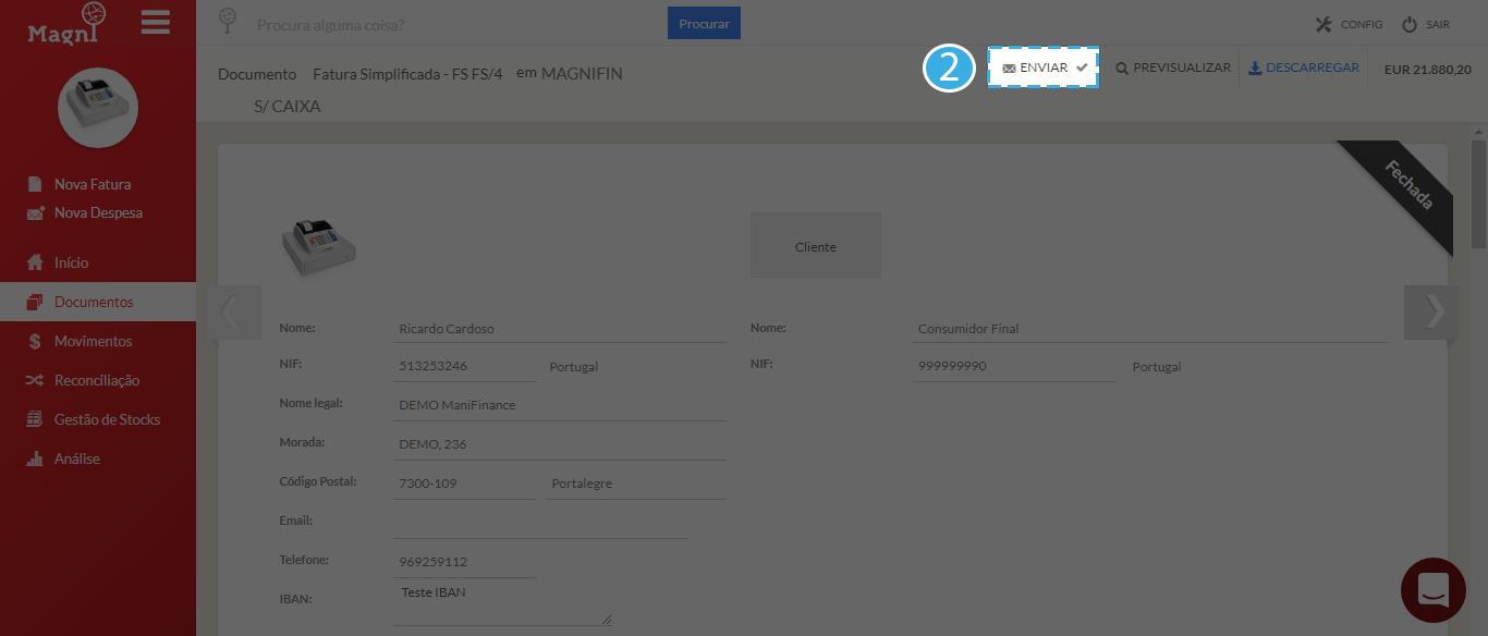 Como Enviar Um Documento Por Email - Passo 2