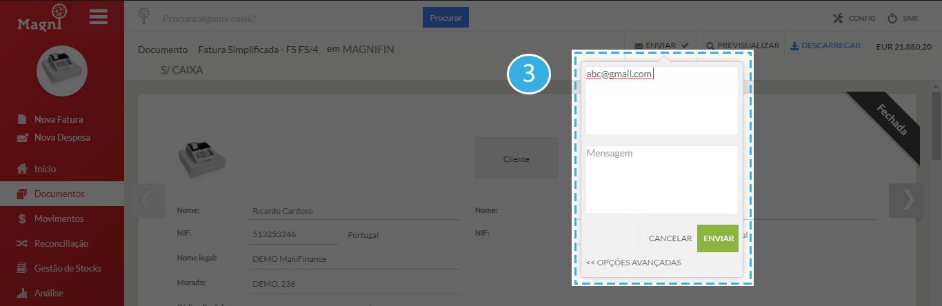 Como Enviar Um Documento Por Email - Passo 3