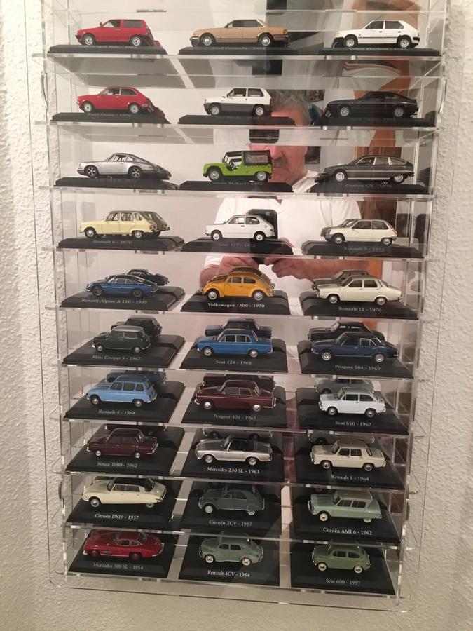 Expositor de metacrilato para coches a escala