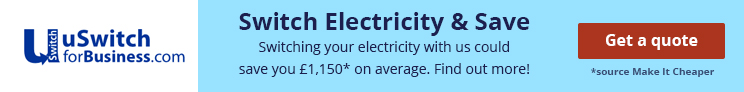 business electricity average saving banner