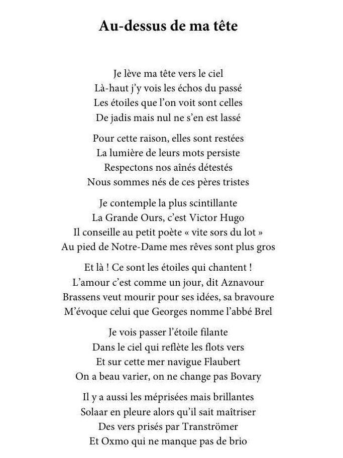 Poème de Jonas Kerszner