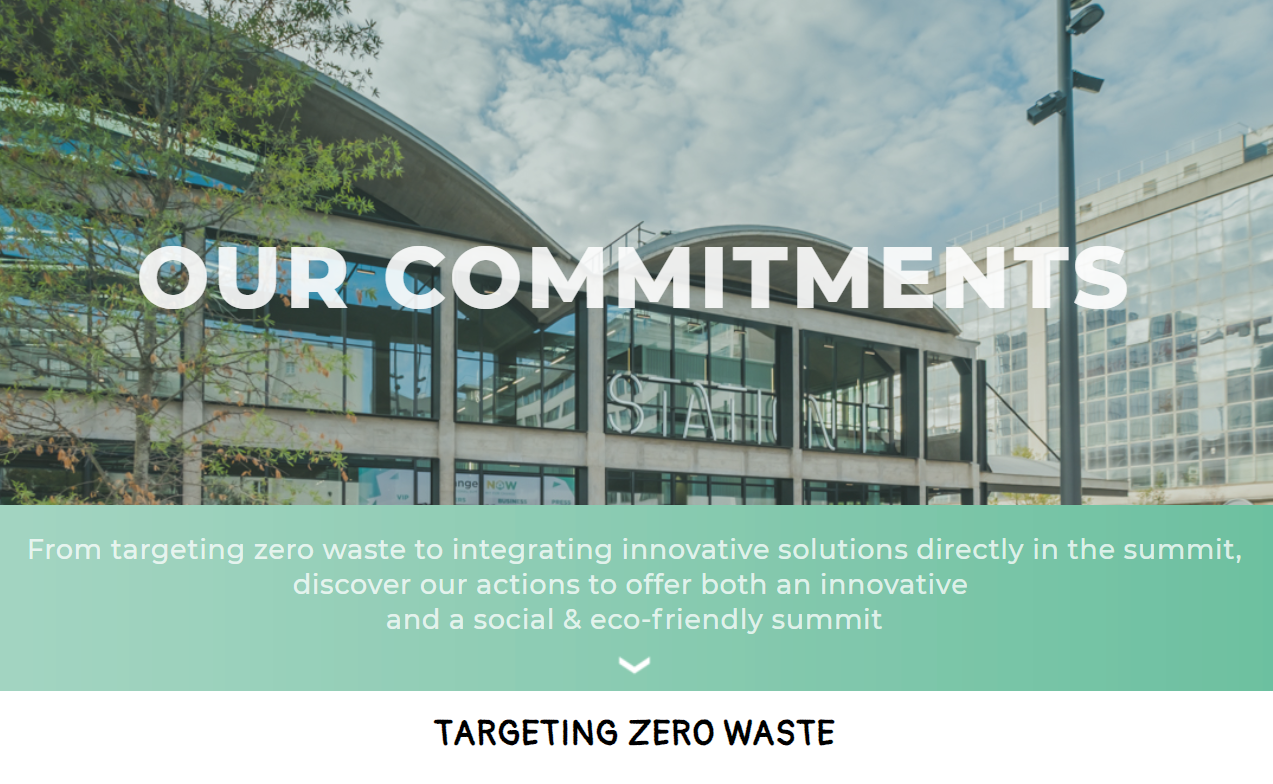Our commitments targeting zero waste