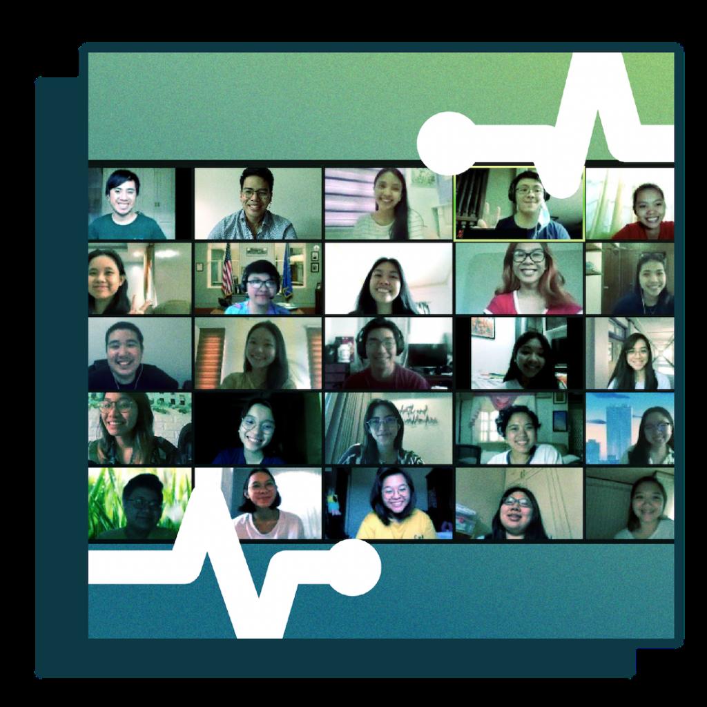Imagining Healthy Futures volunteers meeting online
