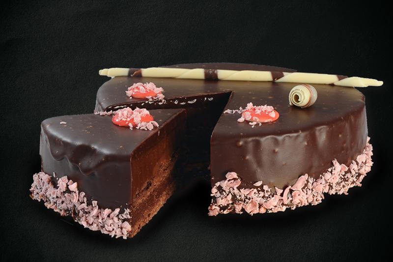 Tort de ciocolată cu zmeură