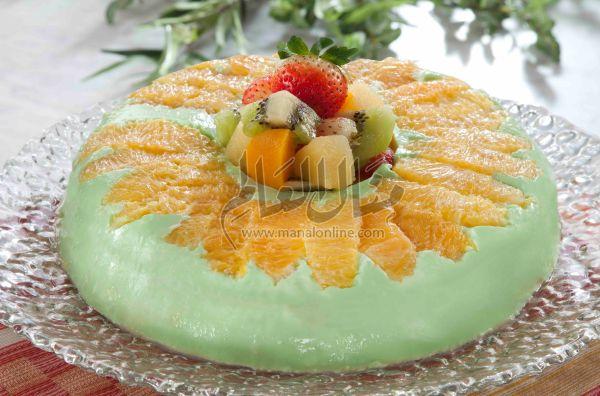 قالب البرتقال والاناناس