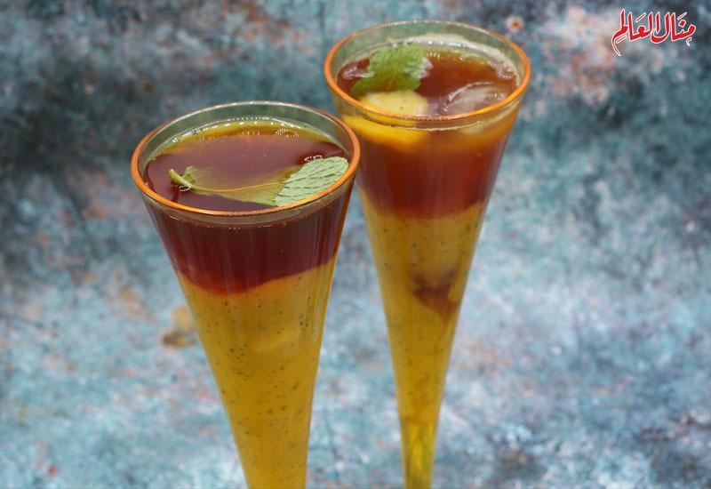 شاي مثلج مع المانجو
