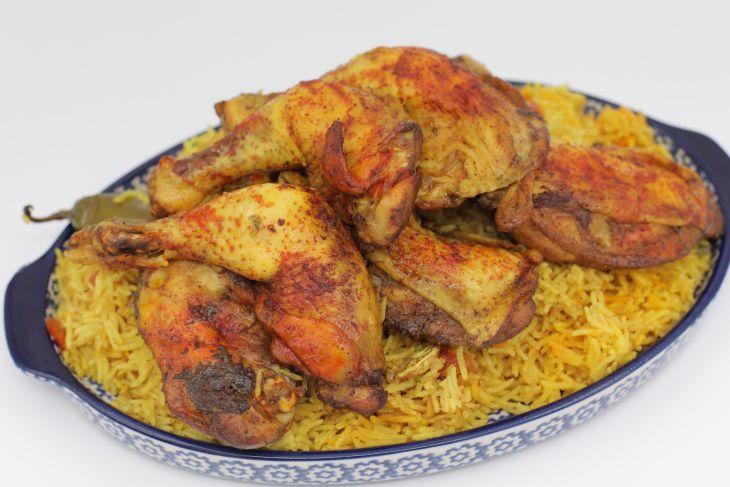 مندي الدجاج مع الأرز