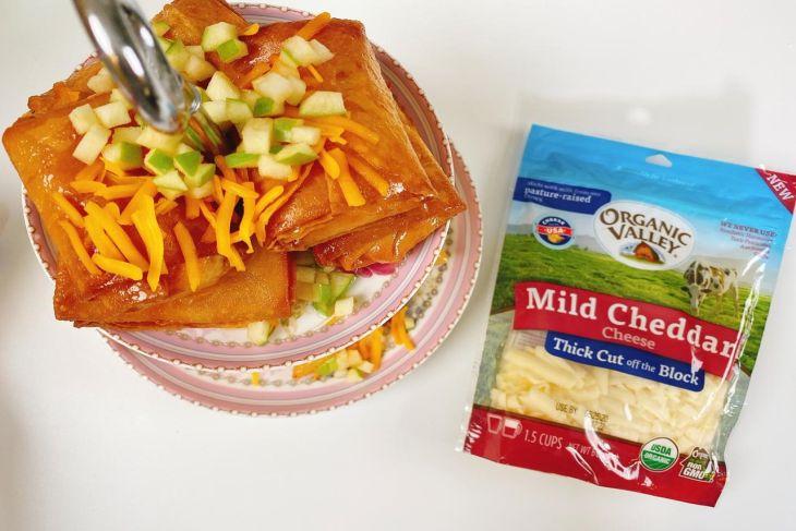 كلاج التفاح بجبن الشيدر من الولايات المتحدة الأمريكية
