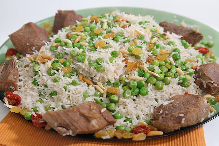 أرز مع البازلاء