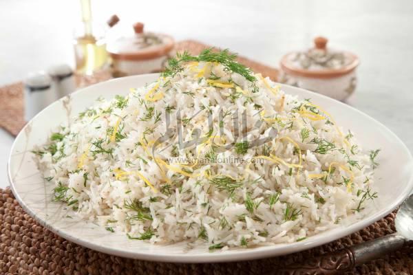 أرز بالليمون والشبت