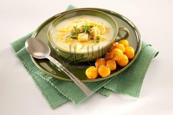 شوربة البطاطس والجبن