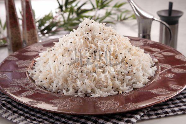 أرز بالسمسم وحبة البركة