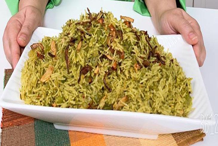 أرز أخضر بالكرفس