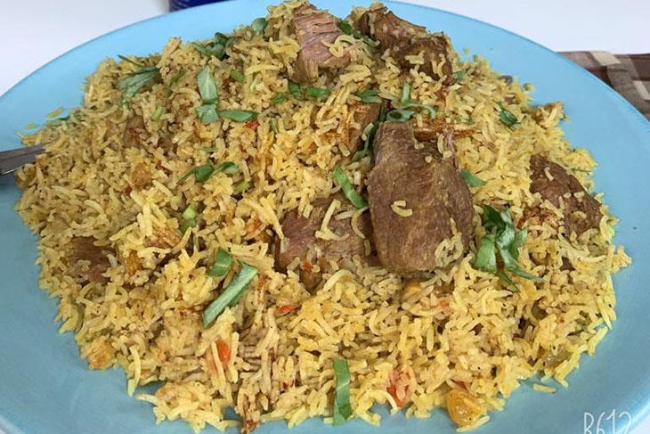 أرز تلدا باللحم والمشروم