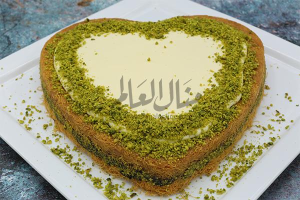 كنافة بالفستق الحلبي والقشطة رمضان 2019