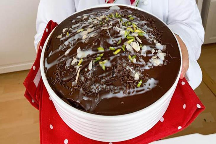 كيكة قطنية بالشوكولاتة