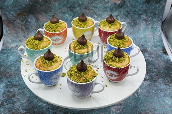 بسبوسة شوكولاتة بالفناجين رمضان 2019