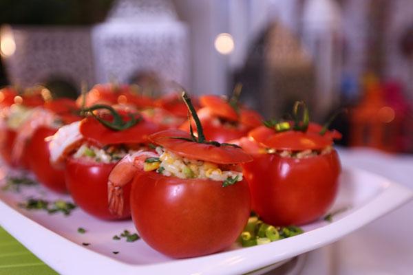 سلطة الطماطم بالروبيان