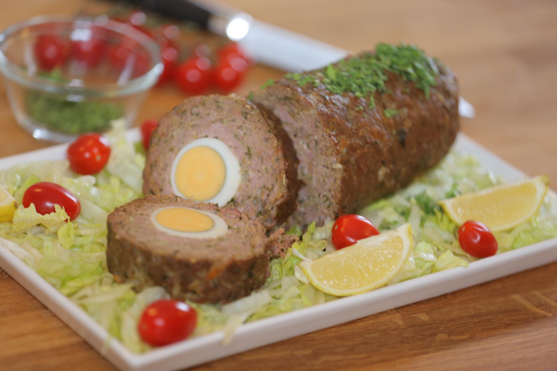 روستو اللحم بالبيض