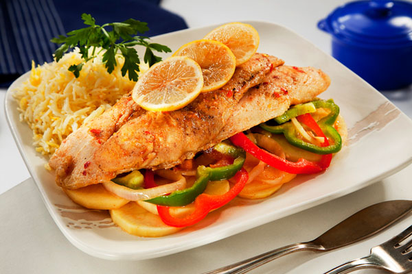 صينية السمك بالخضروات 2