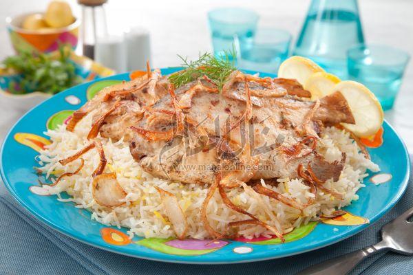 سمك بالأرز المحمر