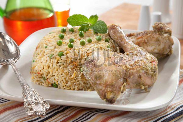 دجاج بالأرز والزعفران