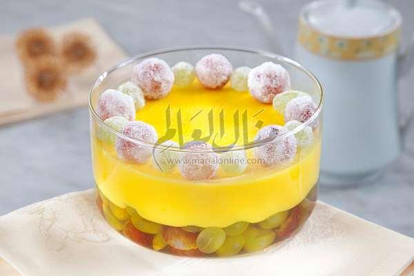 حلو طبقات الليمون والعنب