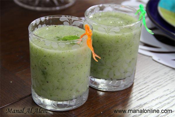 عصير الكيوي مع النعناع الأخضر