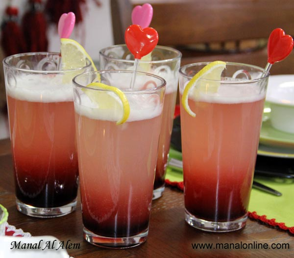 مشروب الليمون مع الورد