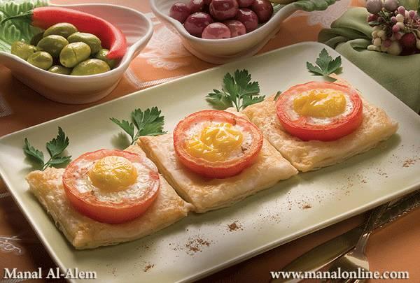 فطائر البيض بالطماطم